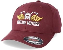 Vintage Motors Maroon Flexfit - Born To Ride