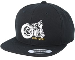 Comfy Ride Black Snapback - Born To Ride