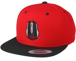 Mouse Red/Black Snapback - Gamerz