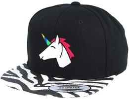 Unicorn Black Zebra Snapback - Unicorns