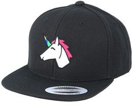 Kids Unicorn Black Snapback - Unicorns