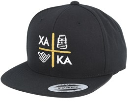 Shaka Cross Gold/Black Snapback - Xaka