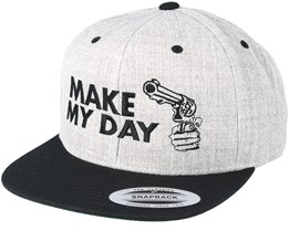 Make My Day Grey/Black Snapback - Scenes