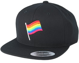 Flag Black Snapback - Pride