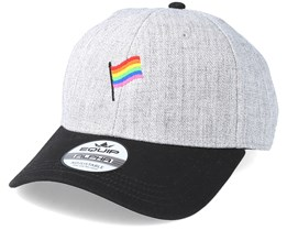 Flag Heather Grey/Black Adjustable - Pride