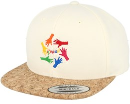 Hands White/Cork Snapback - Pride