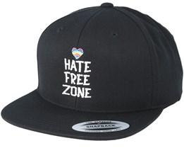 Hate Free Zone Black Snapback - Pride