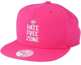 Hate Free Zone Pink Snapback - Pride