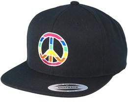 Peace Black Snapback - Pride
