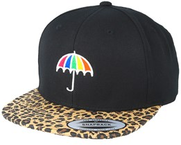 Umbrella Black/Leopard Snapback - Pride