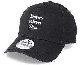 Done With You Black Adjustable - Iconic