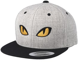 Kids Snake Eyes Grey/Black Snapback - Kiddo Cap