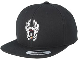 Kids Spider Black Snapback - Kiddo Cap