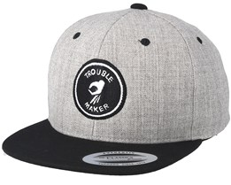 Kids Trouble Maker Grey/Black Snapback - Kiddo Cap