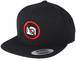 No Photo Black Snapback - Iconic
