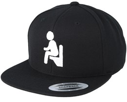 Toilet Man Black Snapback - Iconic