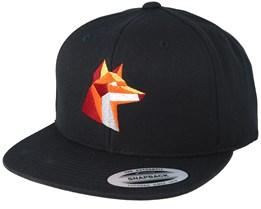 Paper Fox Black Snapback - Origami