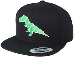 Paper Dino Black Snapback - Origami