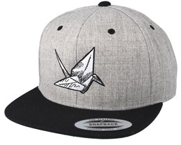 Swan Sketch Grey/Black Snapback - Origami
