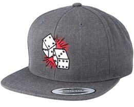 Dices Dark Heather Grey Snapback - Tattoo Collective