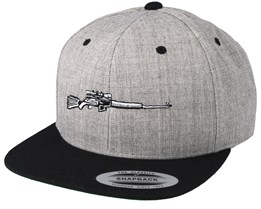 e58d0becb7d6a The Rifle Grey Black Snapback - Hunter