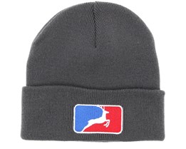 MLB Deer Charcoal Fold Beanie - Hunter