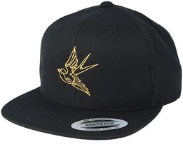 Bird Black/Gold Snapback - Tattoo Collective