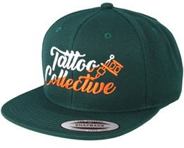 Logo Split Green/Orange Snapback - Tattoo Collective