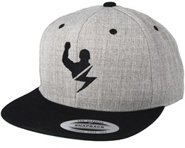 Strong Bolt Heather Grey/Black Snapback - Berzerk