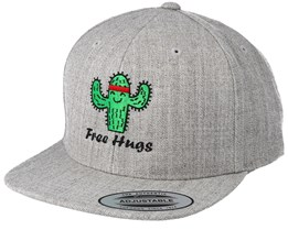 Kids Free Hugs Heather Grey Snapback - Boom