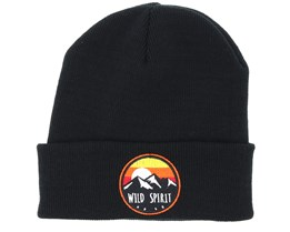 Sunset Logo Black Beanie - Wild Spirit