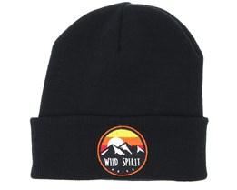 Sunset Logo Black Beanie - Wild Spirit
