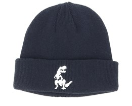 Kids Dino Infant Black Beanie - Kiddo Cap