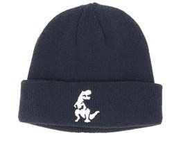 Kids Dino Infant Black Beanie - Kiddo Cap