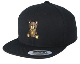 Kids Bling Bling Teddy Black Snapback - Kiddo Cap