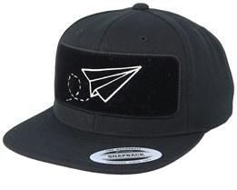 Plane BP Black Snapback - Origami