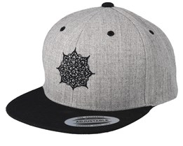 Kids Mandala Grey/Black Snapback - Kiddo Cap