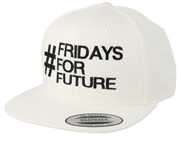 Fridays For Future White Organic Snapback - Iconic