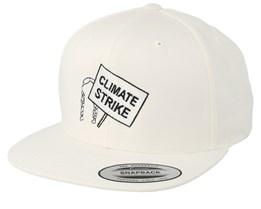 Climate Strike White Organic Snapback - Iconic