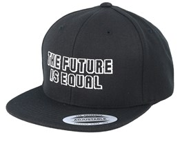 Kids The Future Is Equal Black Snapback - Kiddo Cap