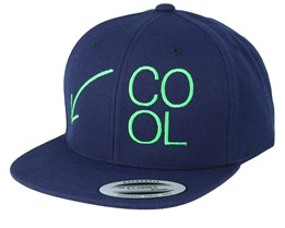 Kids Cool Kid Navy Snapback - Kiddo Cap