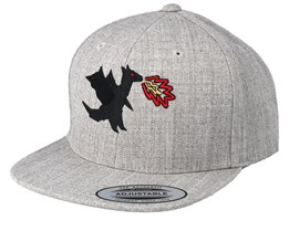 Kids Dragonfire Grey Snapback - Kiddo Cap