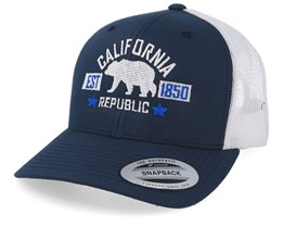 California Republic Navy White Trucker - Iconic
