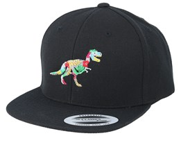 Kids Hawaii T-rex Black Snapback - Kiddo Cap
