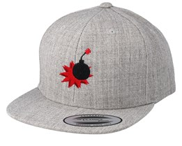 Kids Bomb Heather Grey  Snapback - Kiddo Cap