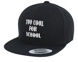 Kids Too Cool For School Black Snapback - Kiddo Cap