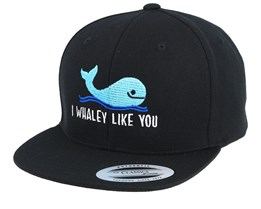 Kids Whaley Like You Black Snapback - Kiddo Cap