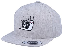 Kids Disco Snail Heather Grey Snapback - Kiddo Cap