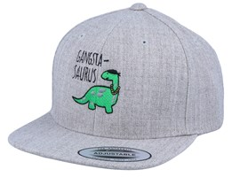 Kids Gangstasaurus Heather Grey Snapback - Kiddo Cap