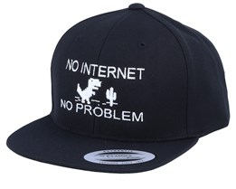 Kids No Internet Black Snapback - Kiddo Cap